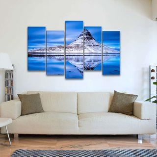Картина Снежная Гора В Отражении