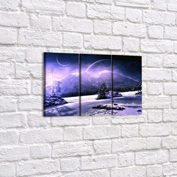 Модульная картина Снежные Холмы