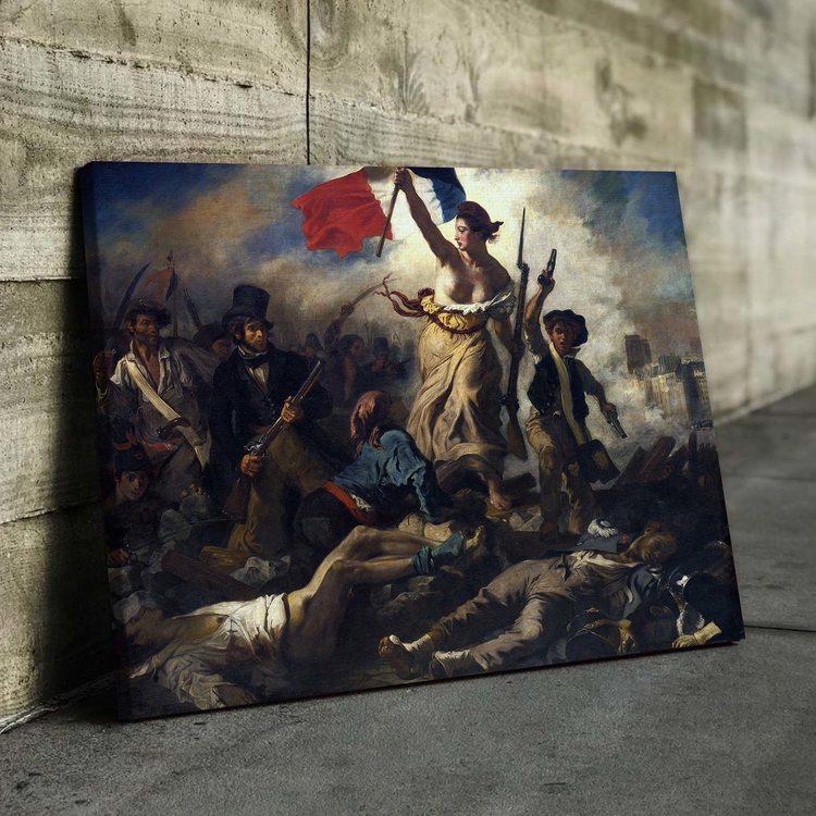 Картина Свобода Ведущая Народ - Эжен Делакруа