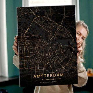 Картина Темная Карта Амстердам