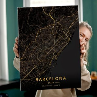 Картина Темная Карта Барселона
