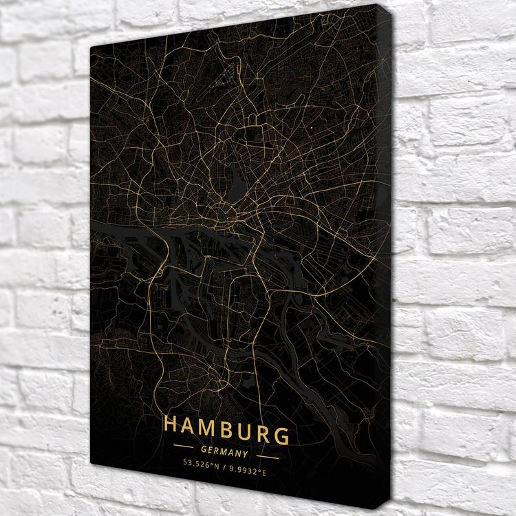 Картина Темная Карта Гамбург