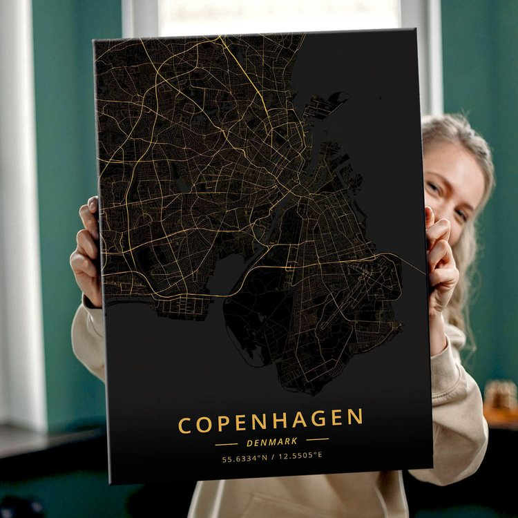 Картина Темная Карта Копенгаген