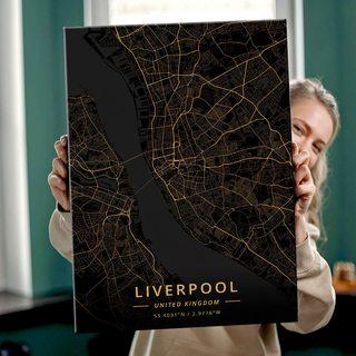 Картина Темная Карта Ливерпуль