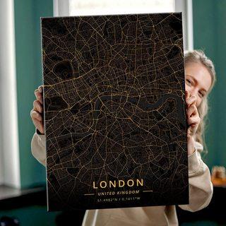 Картина Темная Карта Лондон