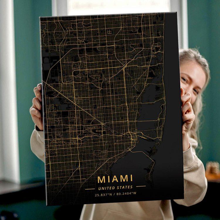Картина Темная Карта Майами