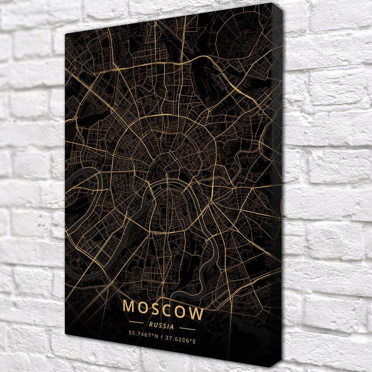 Картина Темная Карта Москва