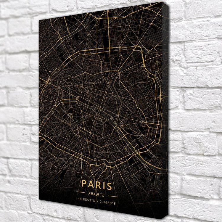 Картина Темная Карта Париж