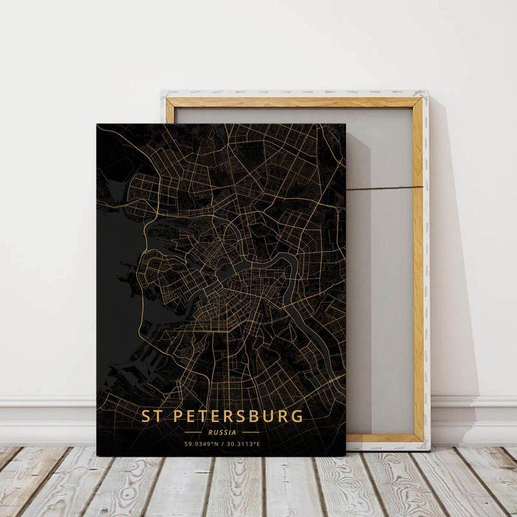 Картина Темная Карта Санкт-Петербург