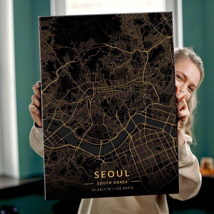 Картина Темная Карта Сеул