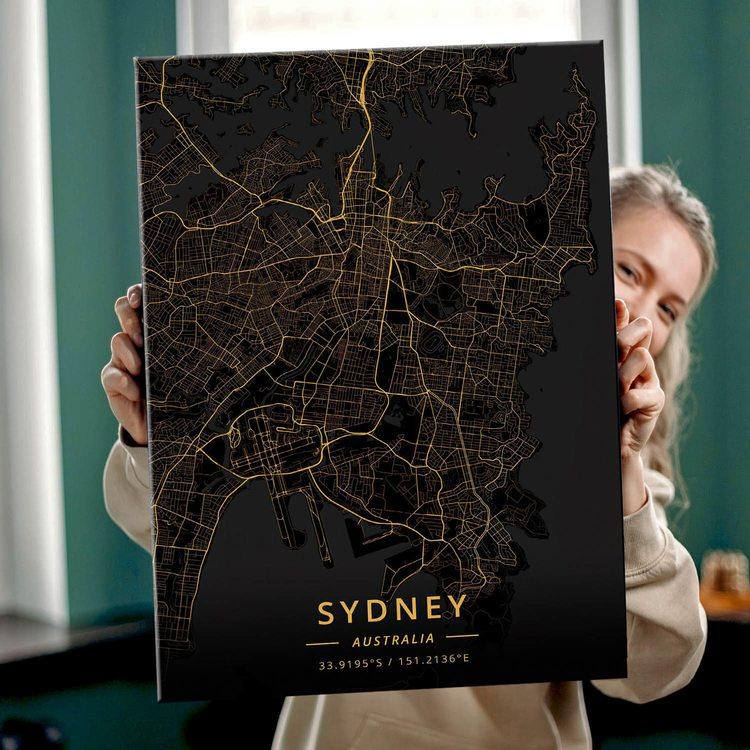 Картина Темная Карта Сидней