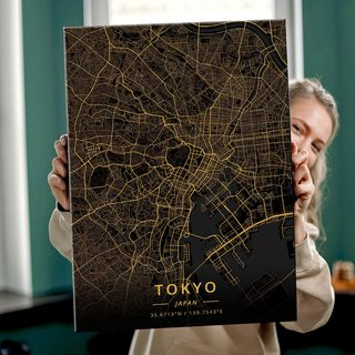 Картина Темная Карта Токио