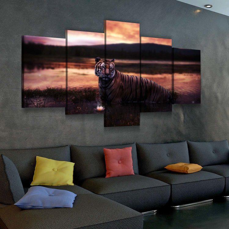 Картина Тигр И Лотос