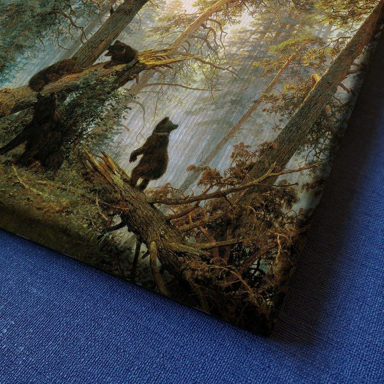 Картина Иван Шишкин - Утро В Сосновом Лесу