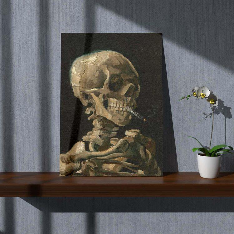 Картина Ван Гог - Череп С Горящей Сигаретой - p53707