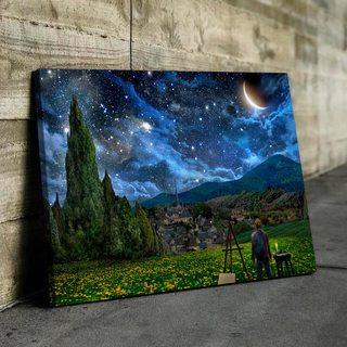 Картина Ван Гог Рисует Звёздную Ночь