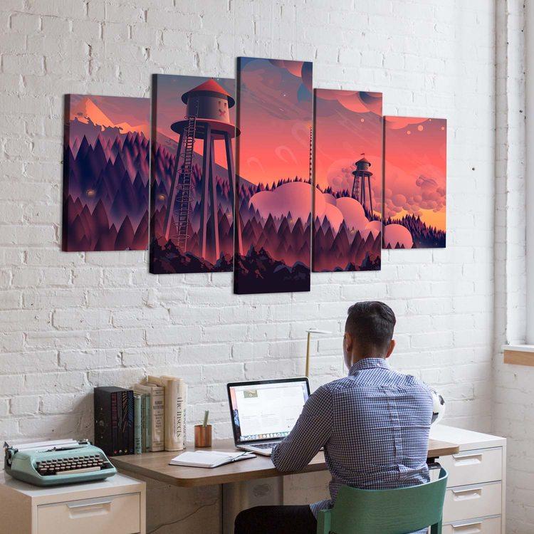 Картина Водонапорные Башни