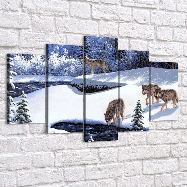 Картина Волки Зимой