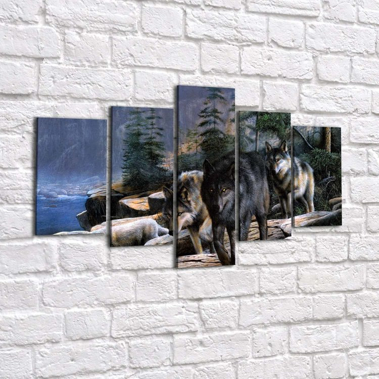 Картина Вожак И Его Стая