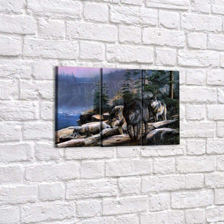 Модульная картина Вожак И Его Стая