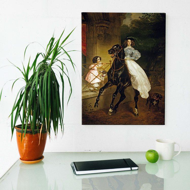 Картина Карл Брюллов - Всадница