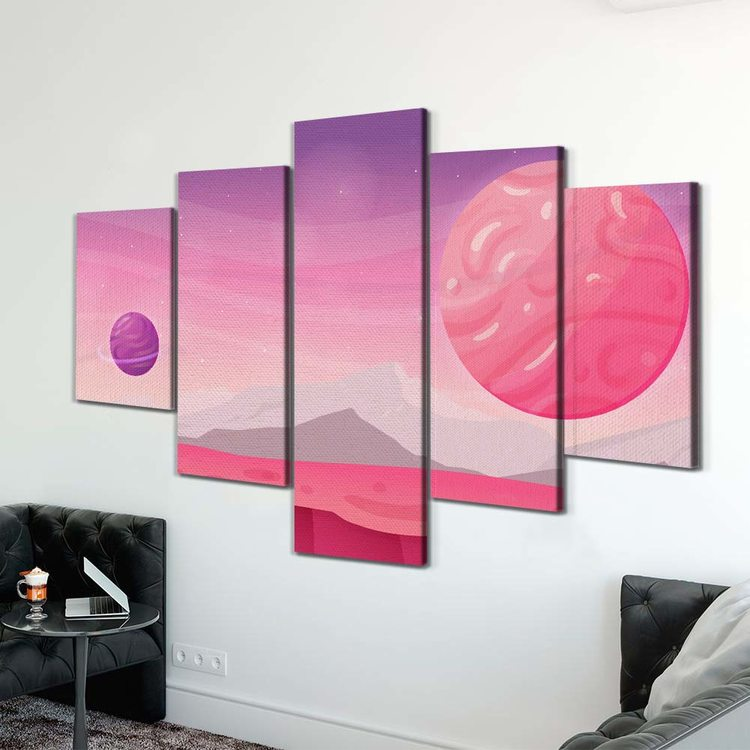 Картина Вселенная Bubble Gum
