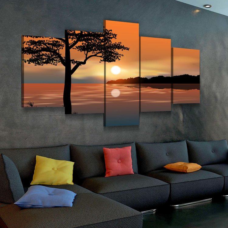 Модульная картина Закат Солнца