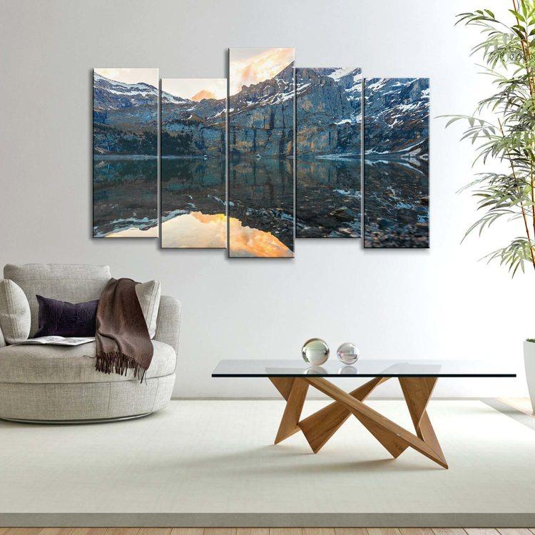 Модульная картина Зеркальные Горы