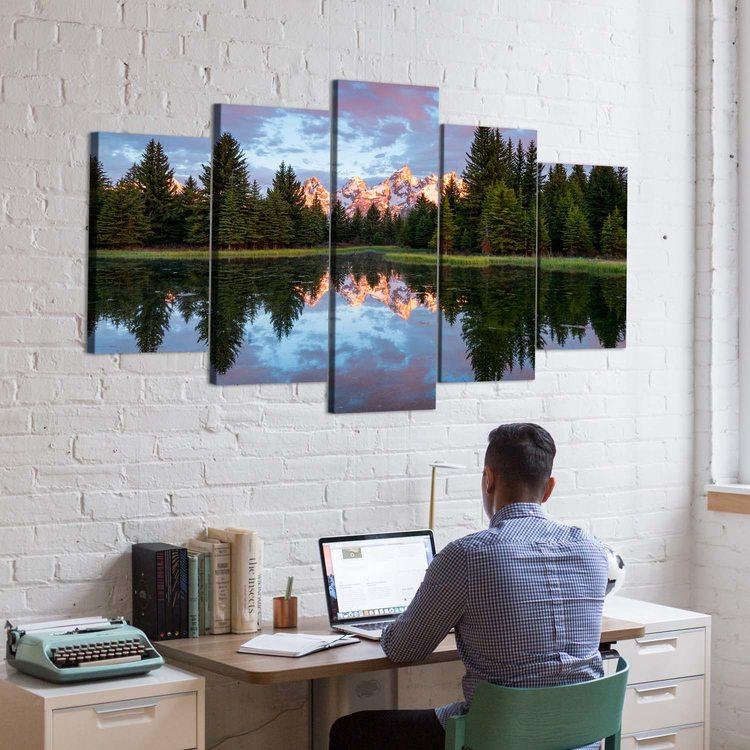 Картина Зеркальный Лес В Отражении