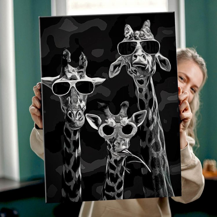 Картина Жирафы на стиле