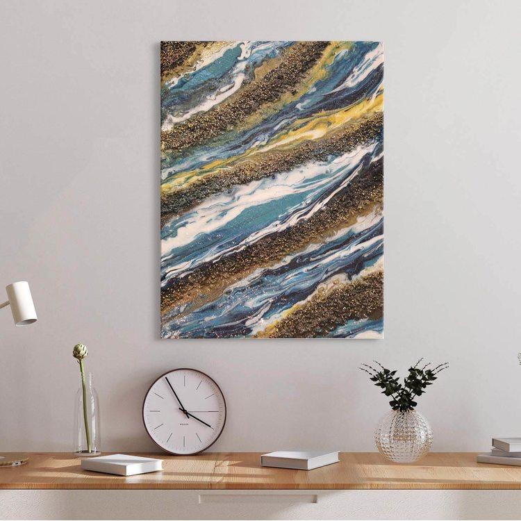 Картина Золото Мрамор - p53839