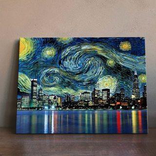 Картина Звездная Ночь Нью-Йорк