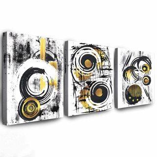 Комплект Картин Жёлто-Черный