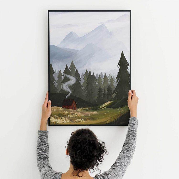 Картина Лесная Поляна
