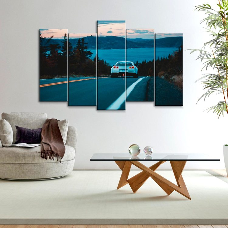 Модульная картина Nissan GTR