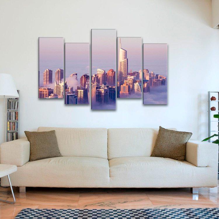 Модульная картина Дубай В Облаках