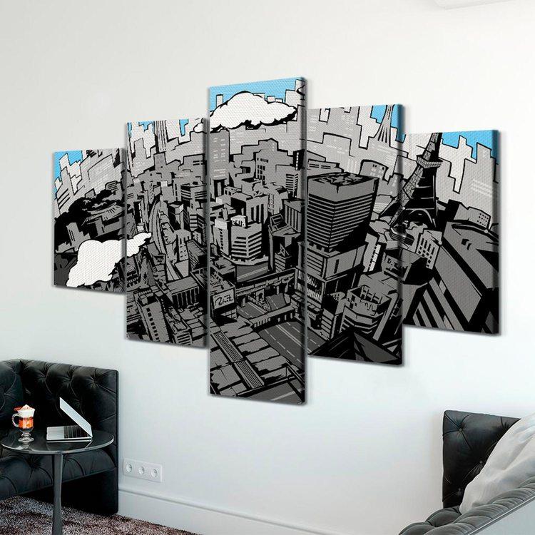Модульная картина Город Из Комиксов