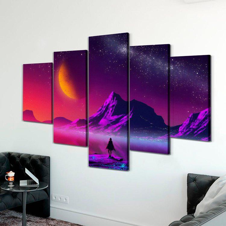 Модульная картина Кислотный Пейзаж