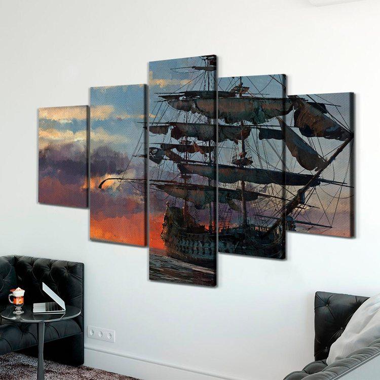 Модульная картина Пиратский Корабль
