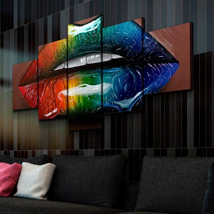 Модульная картина Радужные Губы
