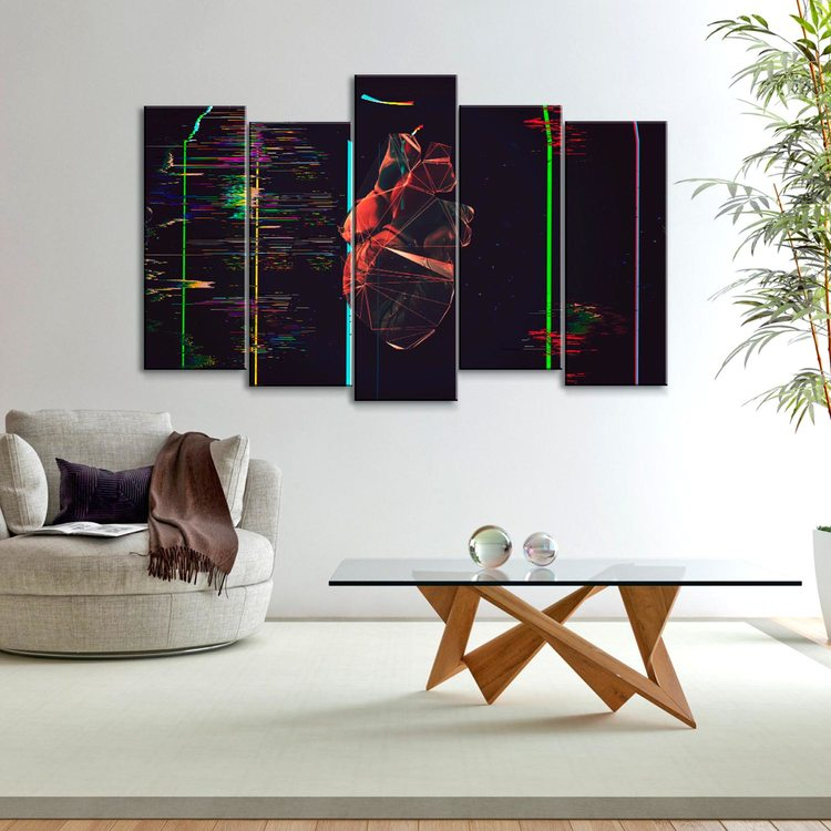 Модульная картина Сердце(графика)