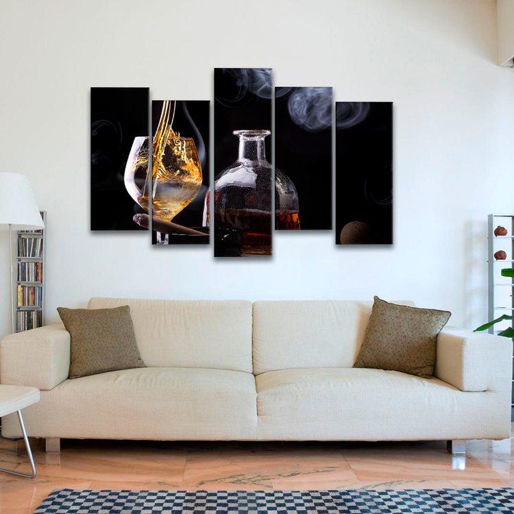 Модульная картина Сигара И Виски