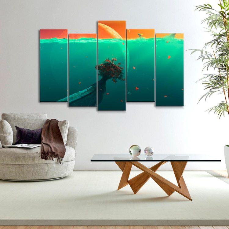 Модульная картина Тайны Океана