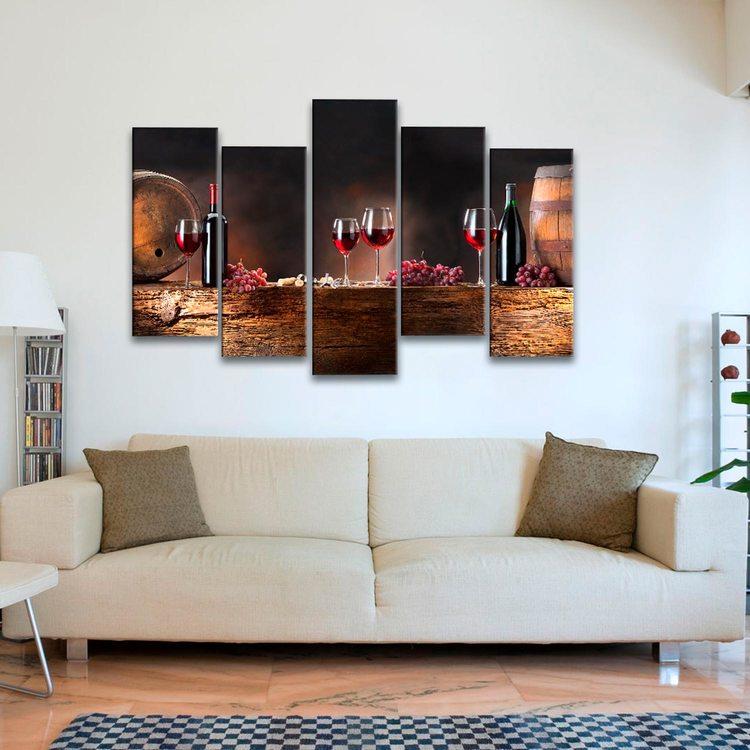 Картина Вино И Бочки