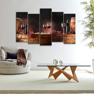 Модульная картина Вино И Бочки