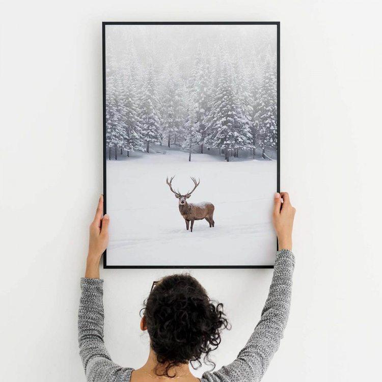 Картина Олень В Зимнем Лесу