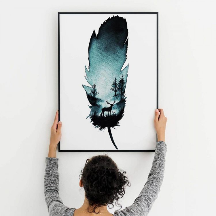 Картина Перо Абстракция