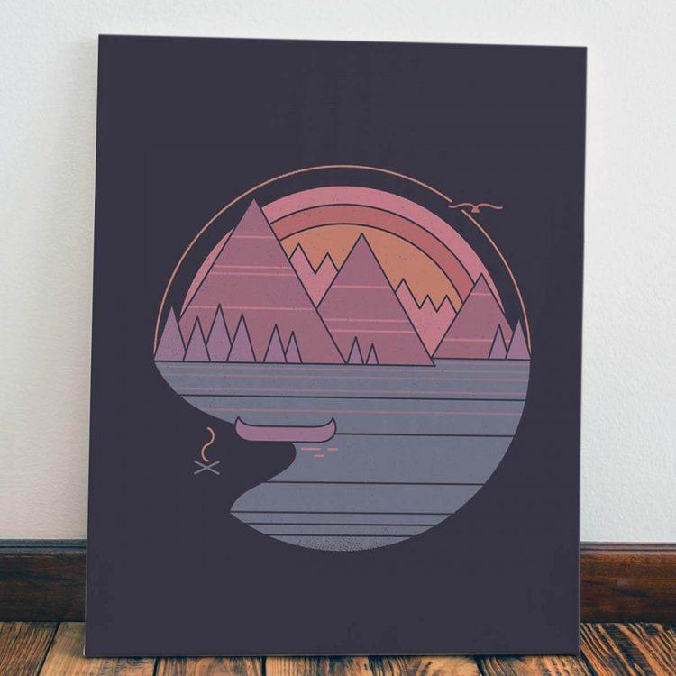 Картина Прибрежный Костер