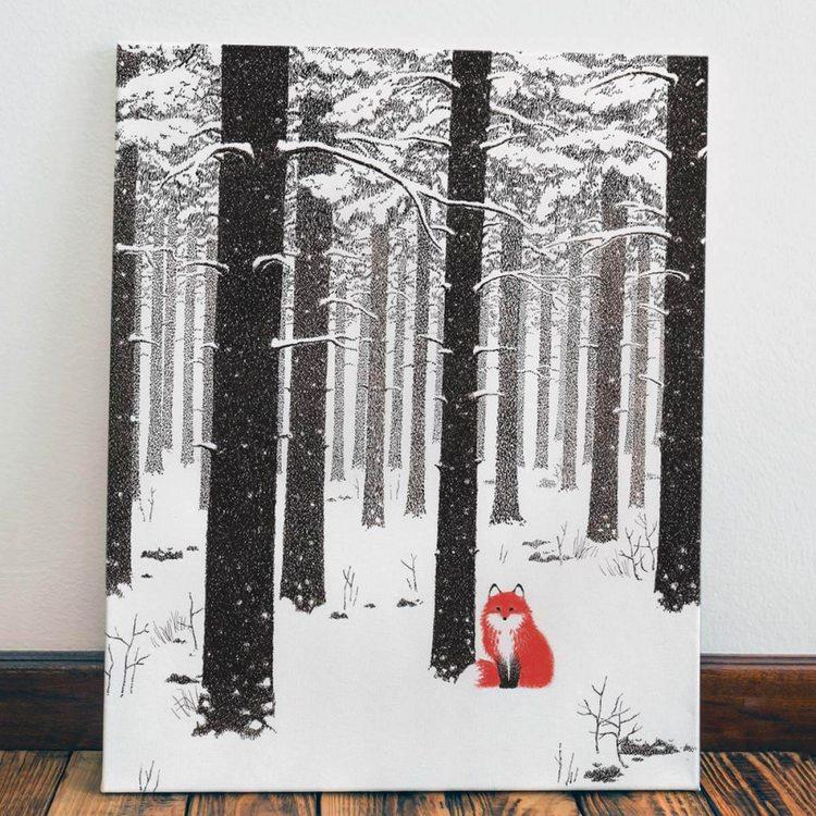 Картина Пушистый Лис