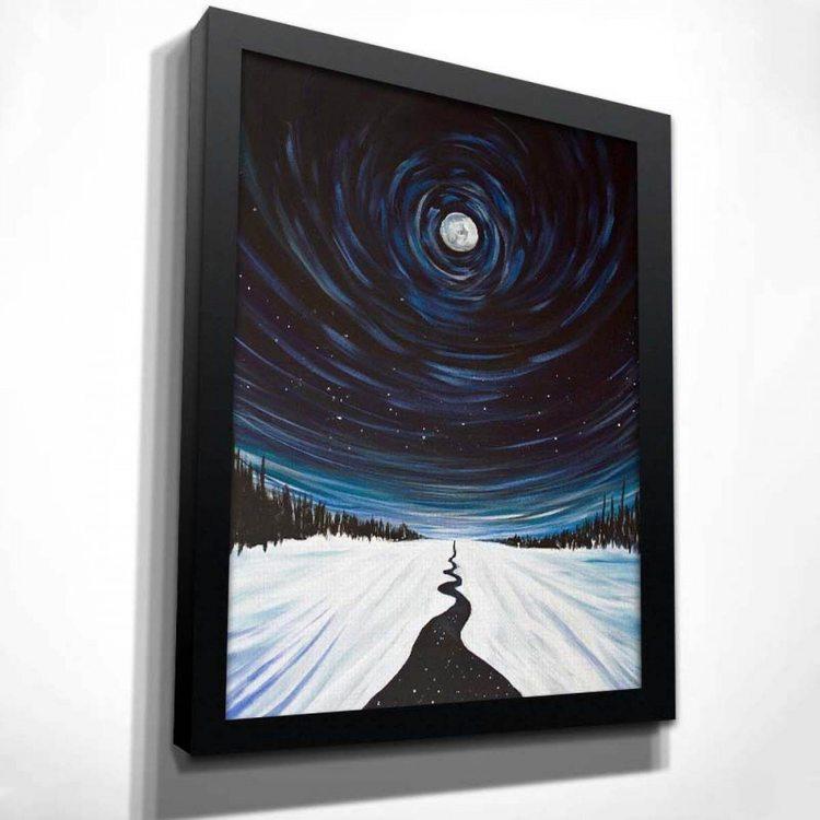 Картина Зимннее Полнолуние